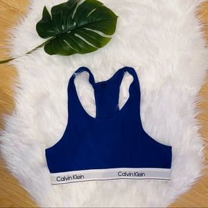 Calvin Klein Blue Sports Bra Large